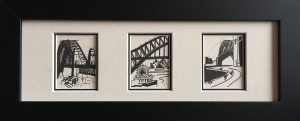 """Miniature B/W Sydney series 5"""" x 15""""."""